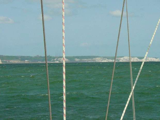 Dover with the wwii radar towers on the white cliffs